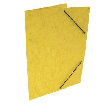 Prešpánové desky s gumičkou bez chlopní A4, žlutá, 20 ks