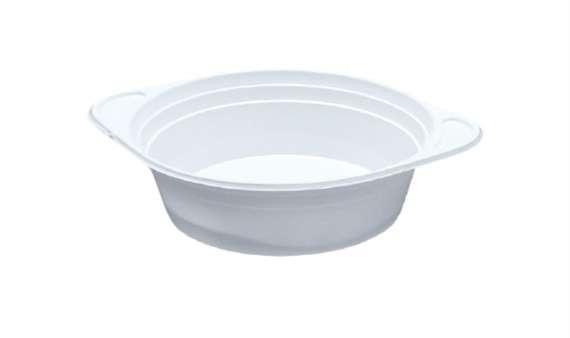 Plastový talíř - hluboký, bílý, 100 x 500 ml