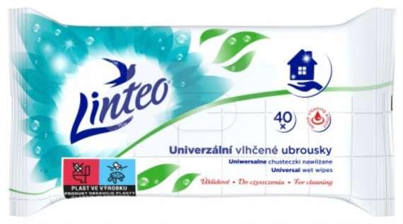 Ubrousky vlhčené univerzální Linteo Satin, 40ks