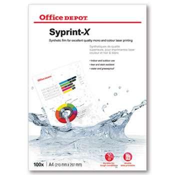 Fólie do tiskárny Office Depot Syprint-X - A4, 115 mikronů, matné bílé, 100 ks