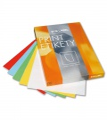 Samolepicí barevné etikety SK Label - mix barev, 70 x 36 mm, 2400 ks