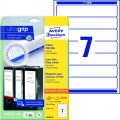 Samolepicí etikety na pořadače Avery Zweckform - 192 x 38 mm, bílá