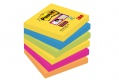 Poznámkové samolepicí lístky Post-it Super Sticky Rio - 7,6 x 7,6 cm, 5 barev, 6 x 90 ks