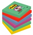 Poznámkové samolepicí lístky Post-it Super Sticky Marrákeš - 7,6 x 7,6 cm, 5 barev, 6 x 90 ks