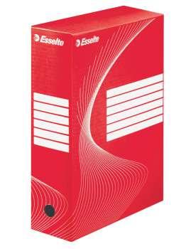 Krabice archivační Esselte, 10,0 x 34,5 x 24,5 cm, červená