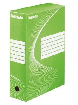 Krabice archivační Esselte, 10,0 x 34,5 x 24,5 cm, zelená