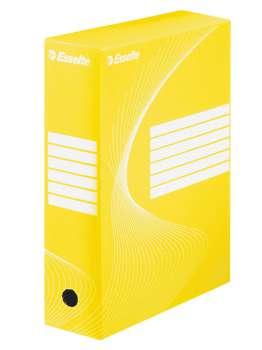Krabice archivační Esselte, 10 cm, žlutá