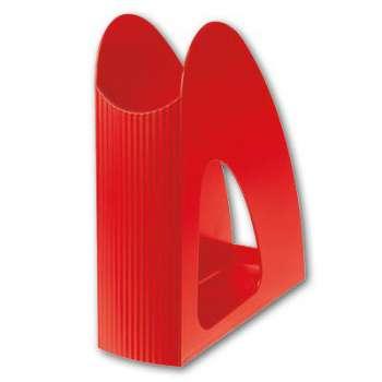 Stojan na časopisy Office Depot - plastový, červený