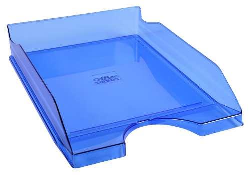 Zásuvka Office Depot - A4, plastová, transparentní, modrá