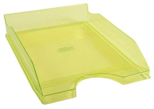 Zásuvka Office Depot - A4, plastová, transparentní, zelená