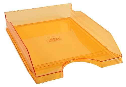 Zásuvka Office Depot - A4, plastová, transparentní, oranžová