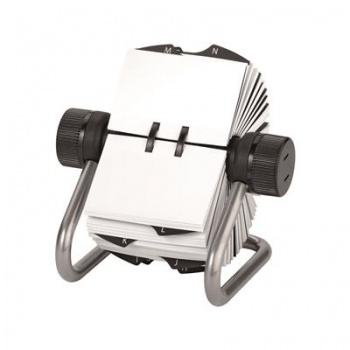 Otočný vizitkář Office Depot - 500 popisovatelných karet, stříbrná