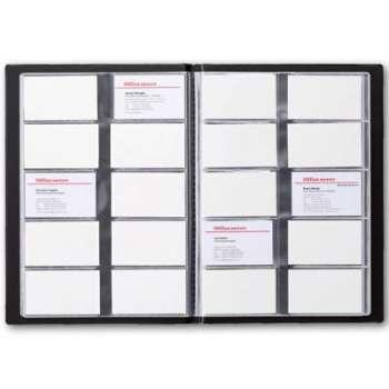 Vizitkář Office Depot - 400 vizitek, lepený, černý
