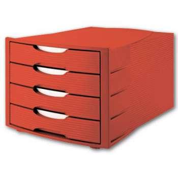 Zásuvkový box Office Depot - plastový, červený