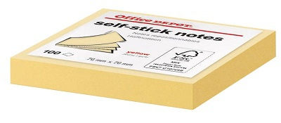 Samolepicí bločky Office Depot 76,0 x 76,0 mm, žluté