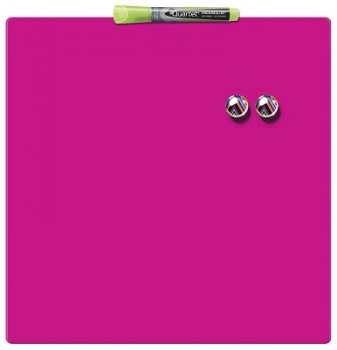 Magnetická tabule Quartet - 36 x 36 cm, růžová