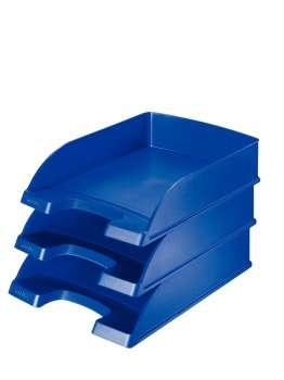 Zásuvka LEITZ PLUS - A4, plastová, modrá