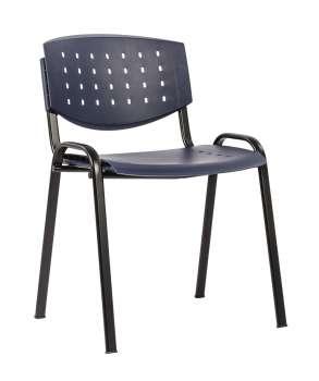Konferenční židle - tmavě modrá, plastová
