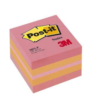 Minibločky v kostce Post-it, pink