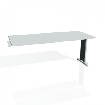 Jednací stůl Hobis FLEX FJ 1800 R, šedá/kov