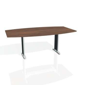 Jednací stůl Hobis FLEX FJ 200, ořech/kov