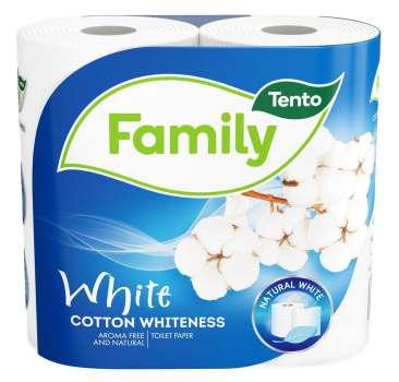 Toaletní papír Tento - dvouvrstvý, bílý, 4 role