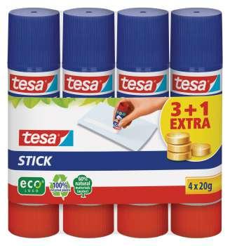 Lepicí tyčinka Tesa EcoLogo, 20 g, 3 + 1 zdarma