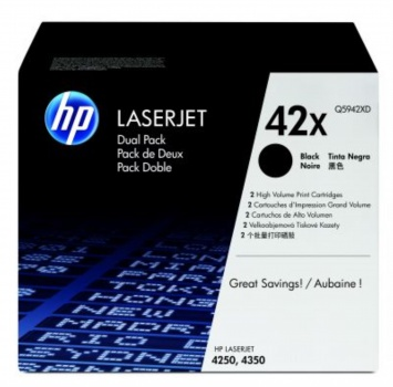 Toner HP Q5942XD/49X - černý, dvojbalení