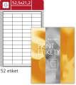 Snímatelné etikety S&K Label - bílé, 52,5 x 21,2 mm, 5 200 ks