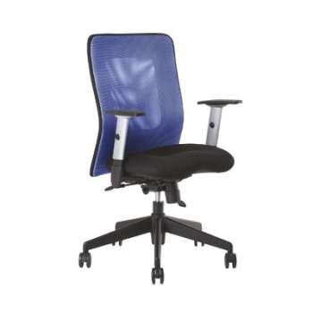 Židle kancelářská Mauritia synchro, modrá