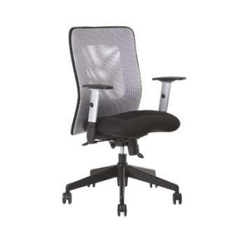 Kancelářská židle Mauritia synchro - černá/šedá