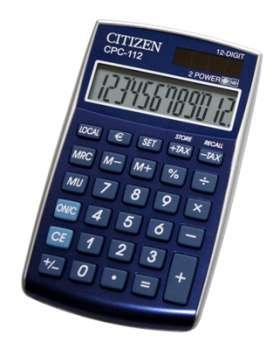 Stolní kalkulačka Citizen CPC-112 - modrá
