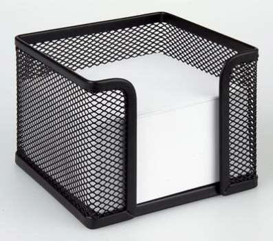 Drátěná krabička na poznámkový bloček - černá