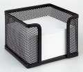 Drátěná krabička na poznámkový bloček Office Depot - černá