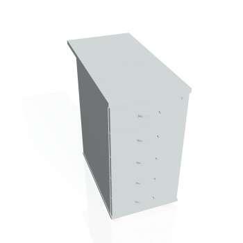 Kontejner Hobis K 25 C 80, šedá/šedá