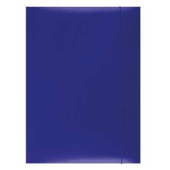 Papírové desky s gumičkou A4, modrá