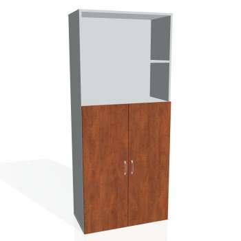 Policová skříň Drive s nikou, plné dveře