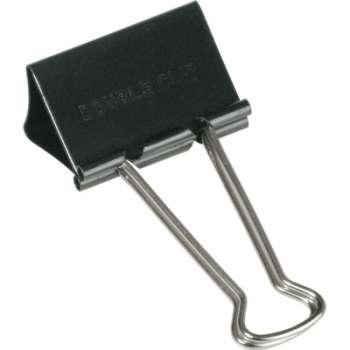 Černé kovové klipy, 25 mm x 12 ks