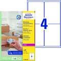 Etikety na zásilky Avery Zweckform - bílé, 99,1 x 139 mm, 400 ks
