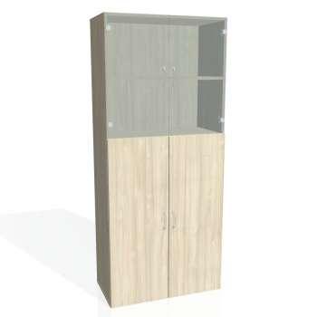 Skříň policová Drive, plné a prosklené dveře