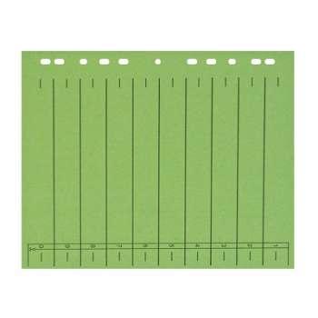 Rozlišovače Office Depot A4, barevné s europerforací, zelená, 100 ks