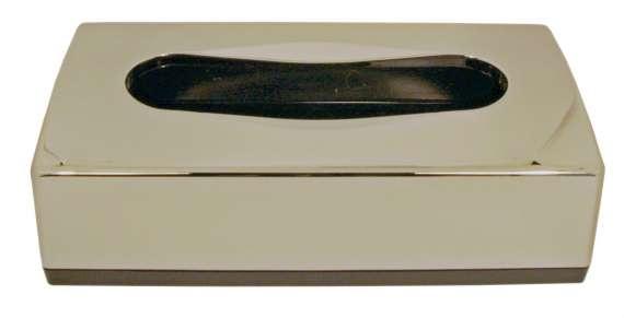 Zásobník na papírové kapesníčky - chrom