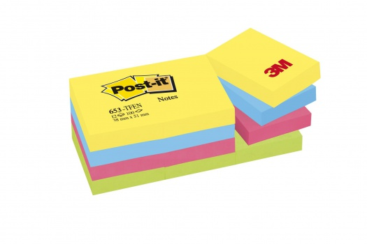 Bloček Post-it  barevný 38x51 mm, energie