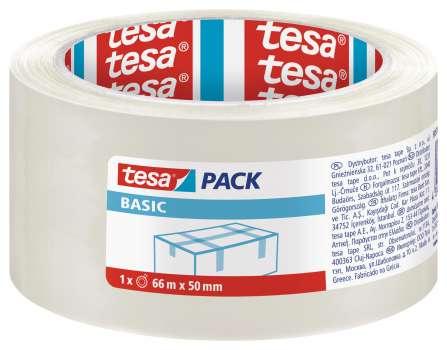 Balicí páska Tesa  Basic  - 50 mm x 66 m, čirá