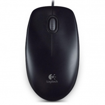 Myš Logitech B100 - optická, černá