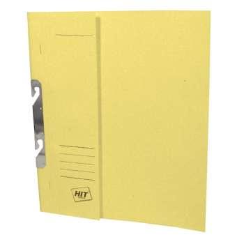 Rychlovazače HIT Office - A4, papírové, závěsné, žlutá, 50 ks