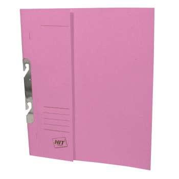 Rychlovazače HIT Office - závěsné, A4, papírové, růžové, 50 ks