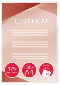 Laminovací kapsy GBC samolepicí - A4, 2x 125 mikronů, lesklé, 100 ks