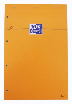 Blok Oxford Orange - A4+, 80 listů, čtverečkovaný, s pevnými zády