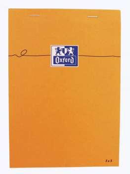 Blok Oxford Orange - A5, 80 listů, čtverečkovaný, s pevnými zády